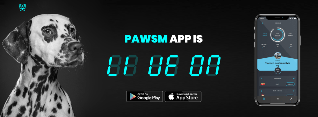 Pawsm dog nutrition app is live and for free on play and app store.
